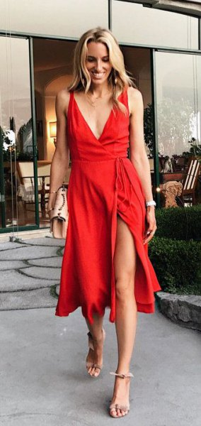 14 Amazing Red Maxi Dress Outfit Ideas - FMag.c