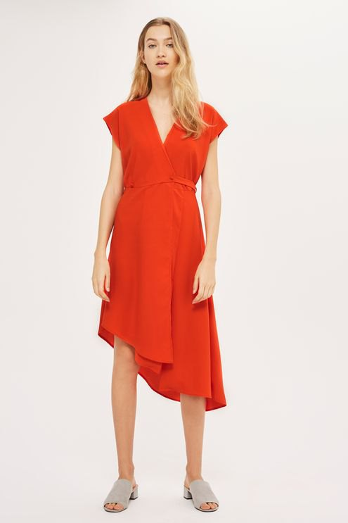 How to Wear Red Wrap Dress: 15 Best Outfit Ideas - FMag.c