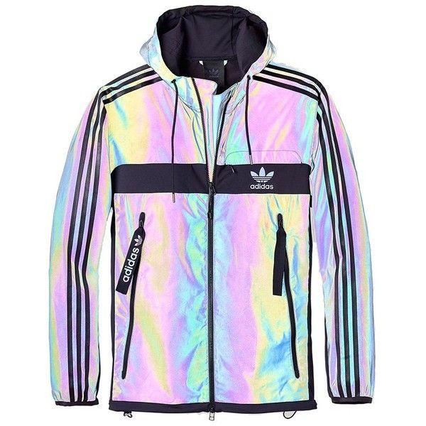 Adidas Xeno Windbreaker Jacket (Multicolour Black) ($115) ❤ liked .