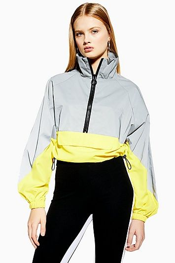 Reflective Windbreaker Jacket | Fashion, Windbreaker, Womens .