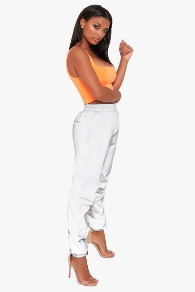Lightening Reflective Windbreaker Pants | Windbreaker, Fashion, Pan