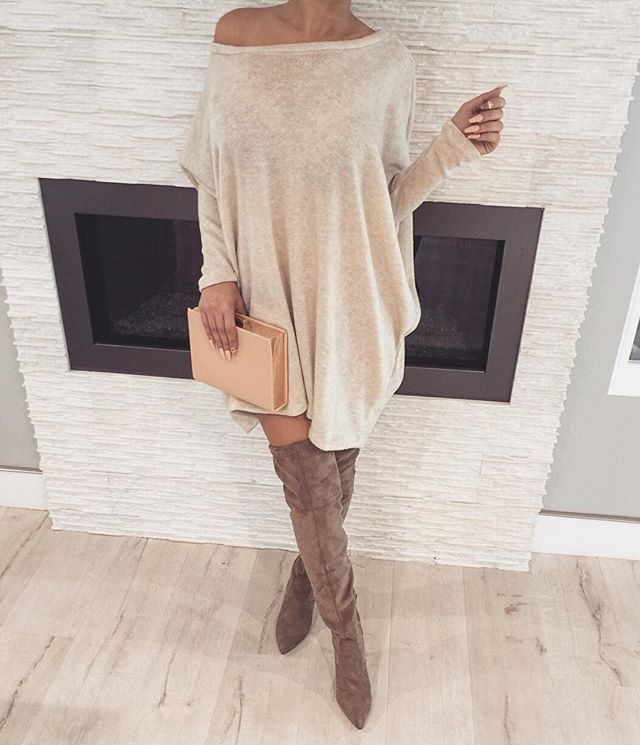 14 outfits with a cozy oversized sweater dress - larisoltd.c