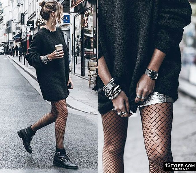 WEARABLE outfit ideas with fishnets + Styling Tips--click the .