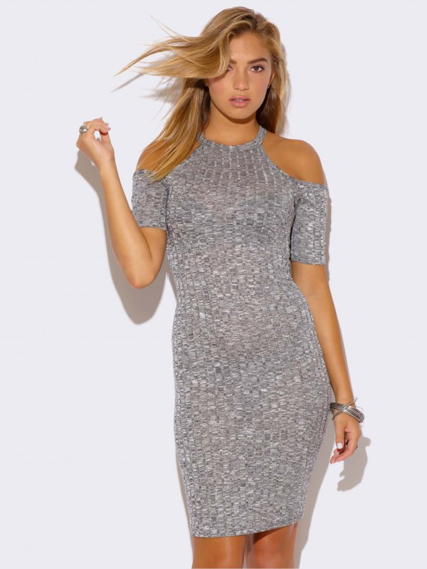 How to Wear Ribbed Dress: 15 Chic Outfit Ideas - FMag.c