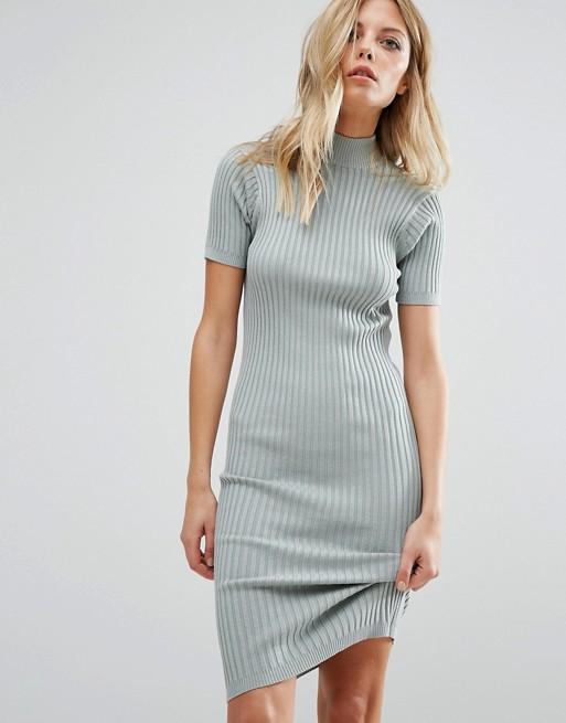 Noisy May Knit Ribbed Sweater Dress | AS