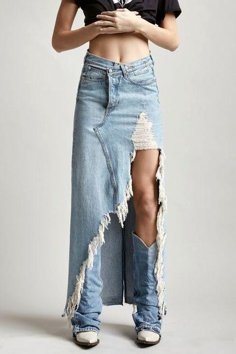 50 Hottest Denim Skirt Outfits Ideas | Denim skirt outfits, Denim .