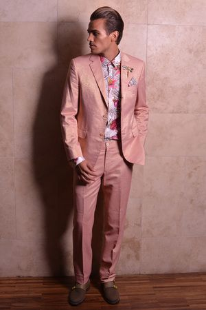 Sean Rose gold tux jacket (With images) | Gold tux, Tux, Pink m
