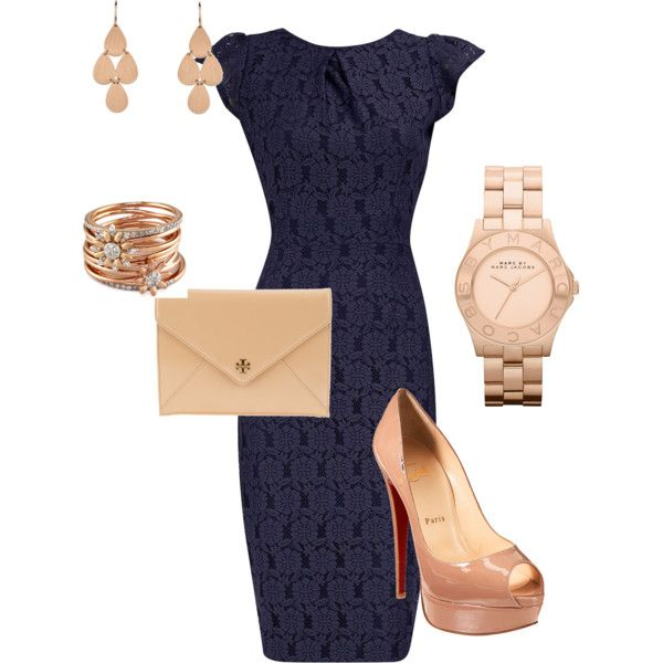 Navy and rose gold | Fashion, Classy outfits, Sty