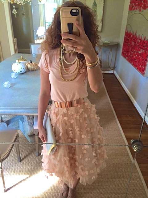 Just Peachy – T-Shirt and Tulle SkirtSannam and Style | Sannam and .