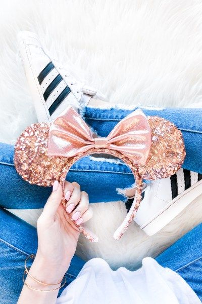 Rose Gold Minnie Ears | Disney Outfit Ideas | Disney Shirts .