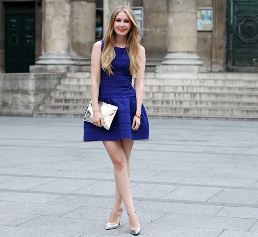 What Color Shoes To Wear With A Royal Blue Dress | Indian Fashion .