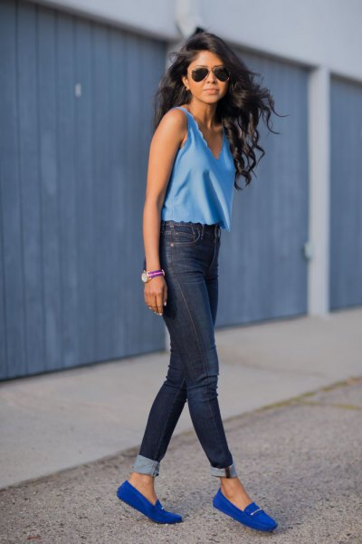 How to Wear Royal Blue Loafers: Top 15 Eye Catching Outfit Ideas .