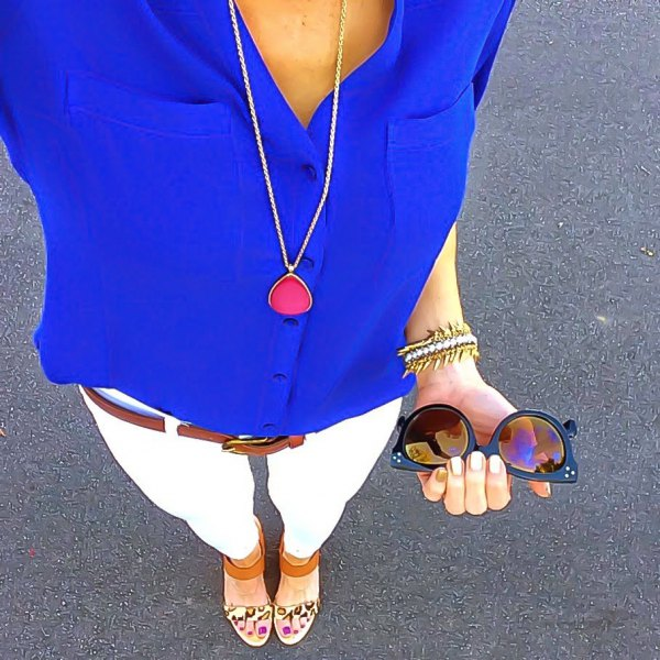 How to Wear Royal Blue Shirt for Women: Outfit Ideas - FMag.c