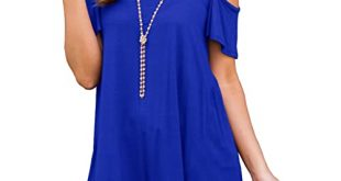 Royal Blue Size Tops: Amazon.c