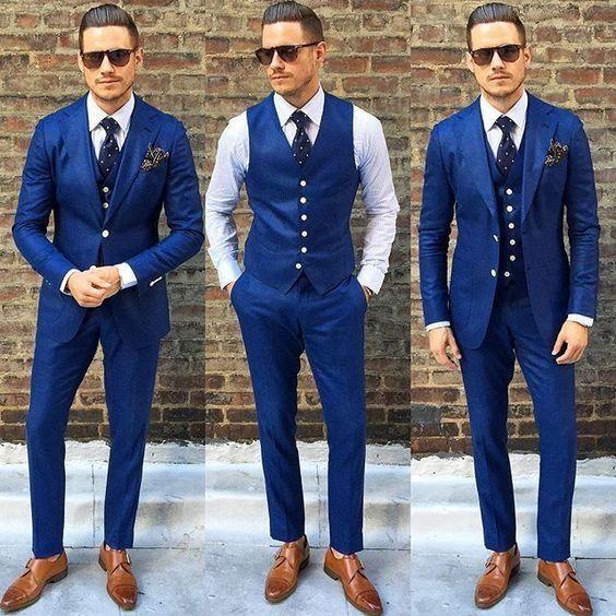 Royal blue suits are the best! | Blue suit men, Formal suits m