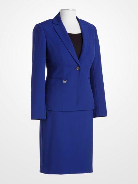 John Meyer Royal Blue Suit $49.99 #womens #skirt #jacket #blazer .