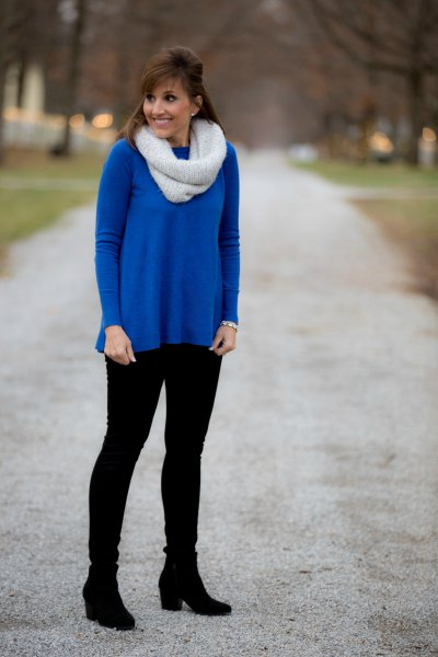 How to Wear Royal Blue Sweater: 15 Attractive Outfit Ideas for .