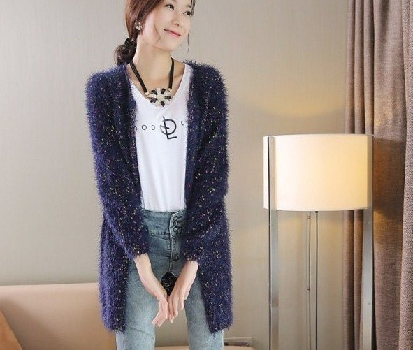 15 Amazing Navy Blue Cardigan Sweater Outfit Ideas for Women .