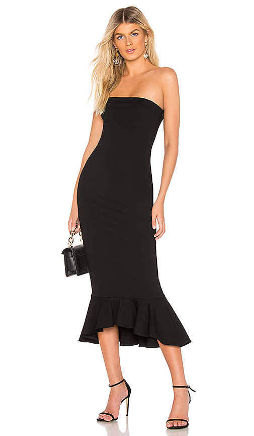 superdown Izzy Ruffle Maxi Dress in Black | REVOL