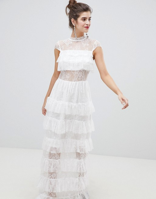Vero Moda Lace Ruffle Maxi Dress | AS