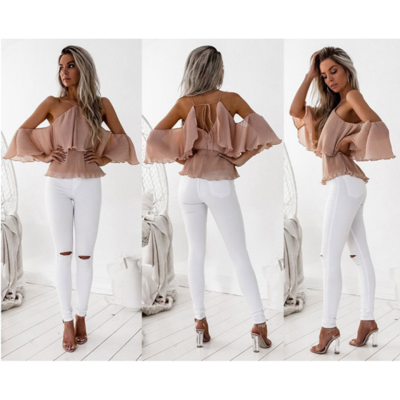 Shop Fashion Women Ladies Summer Loose off Shoulder Blouse Shirts .