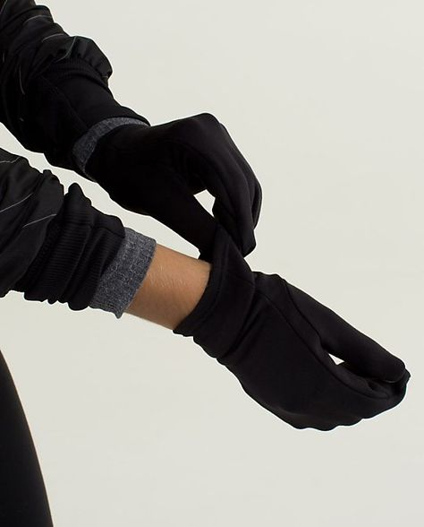 Lululemon, Reversible Run With Me Mittens. $28. | Running attire .