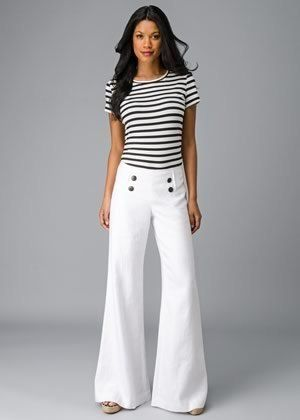 How to Wear Sailor Pants: 15 Elegant Outfit Ideas for Women - FMag .