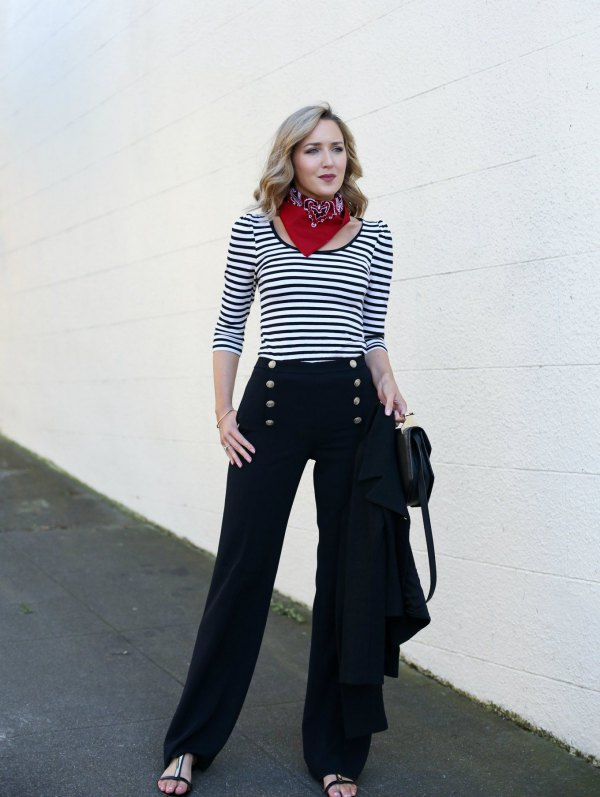 How to Wear Sailor Pants: 15 Elegant Outfit Ideas for Women - FMag.c