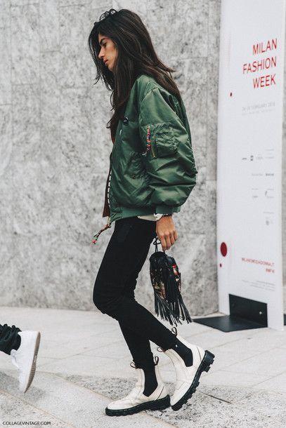 Jacket: tumblr army green bomber satin bomber khaki bomber jeans .