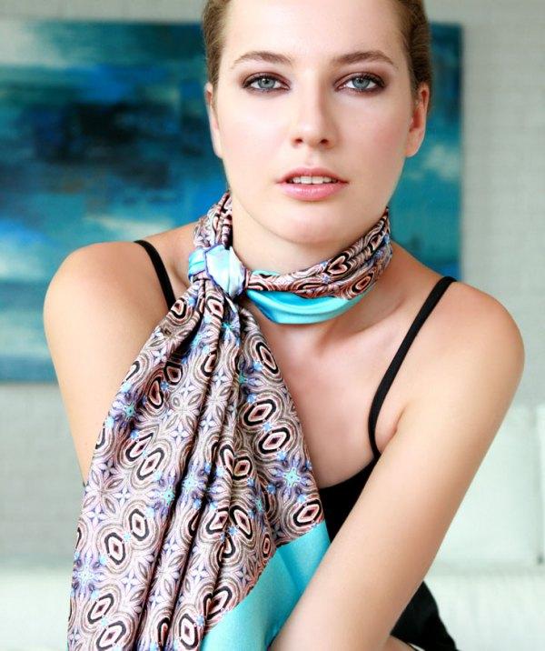 15 Elegant & Feminine Satin Scarf Outfit Ideas - FMag.c