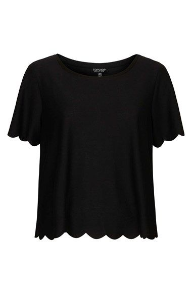 Topshop Scallop Frill Tee | Clothes, Style, To