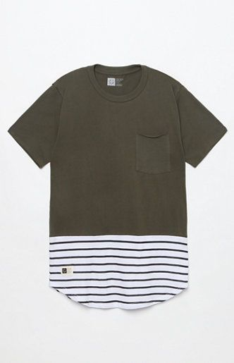 Parallel Pocket Scallop T-Shirt | Mens fashion casual outfits .