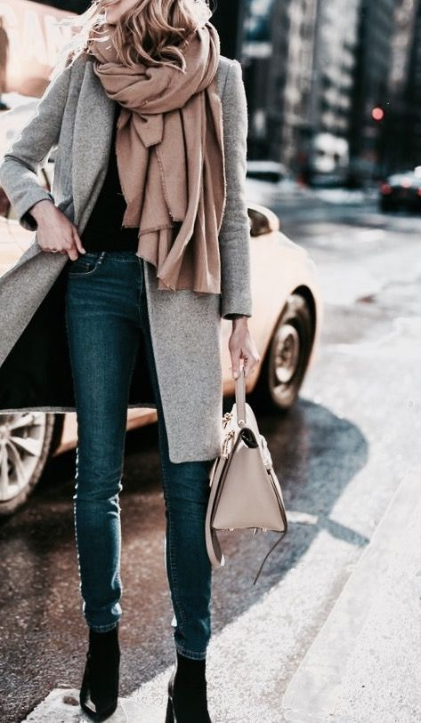 Love this overall look. That scarf is the perfect touch! #fashion .