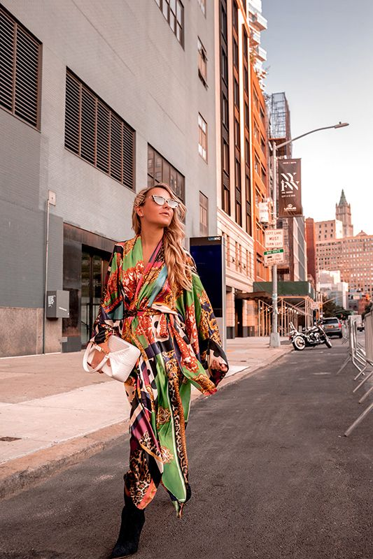 NYFW day one look: Scarf Print with The Kooples | Fashion, Fall .
