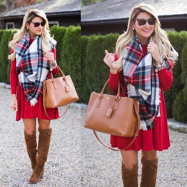 59 Cute Christmas Outfit Ideas | Cute christmas outfits, Red .