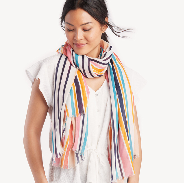 14 Stylish Summer Scarves - Silk and Cotton Women's Scarves for Summ