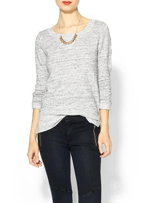 Piperlime | Long Sleeve Scoop Neck Tee | Fashion, Clothes, Casu
