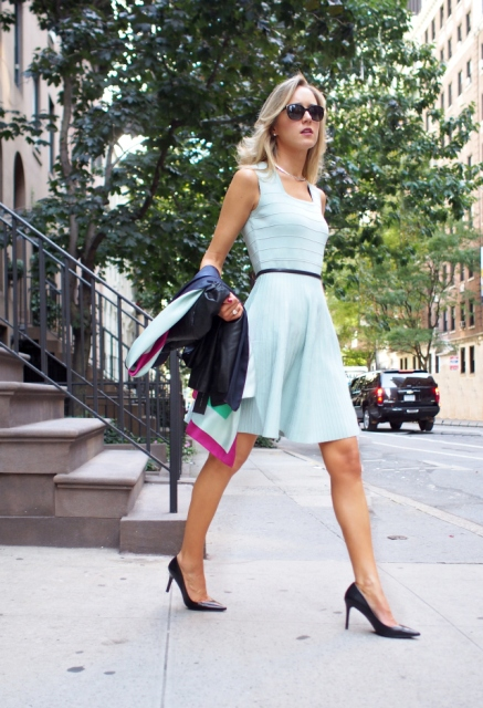 21 Gentle Outfits With Mint Green Dresses - Styleohol