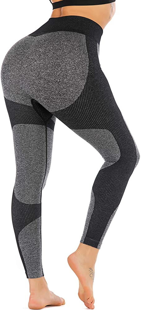 Amazon.com: RUNNING GIRL Women Butt Lift Seamless Yoga Leggings .