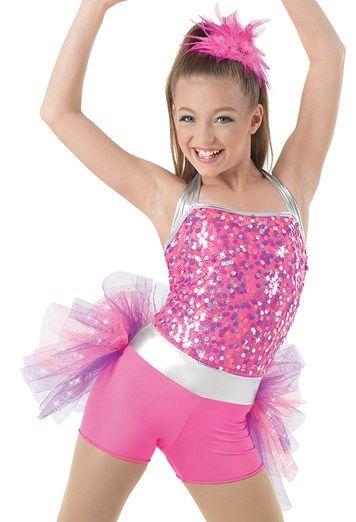 Weissman™ | Bright Lights Sequin Halter Leotard | Cute dance .