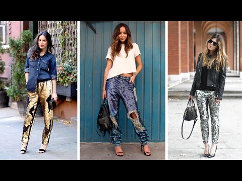 sequin pants outfits ideas - YouTu