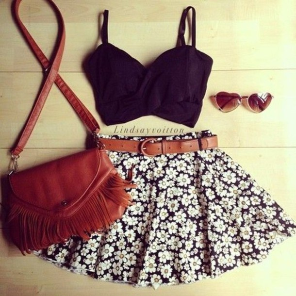 Summer Outfit Ideas with Crop Tops - Pretty Desig
