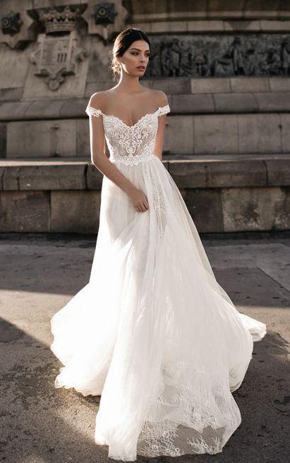 40 Off the Shoulder Wedding Dresses Ideas 39 | Wedding dresses .