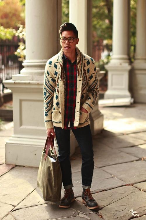 Shawl Collar Cardigan | Famous Outfi
