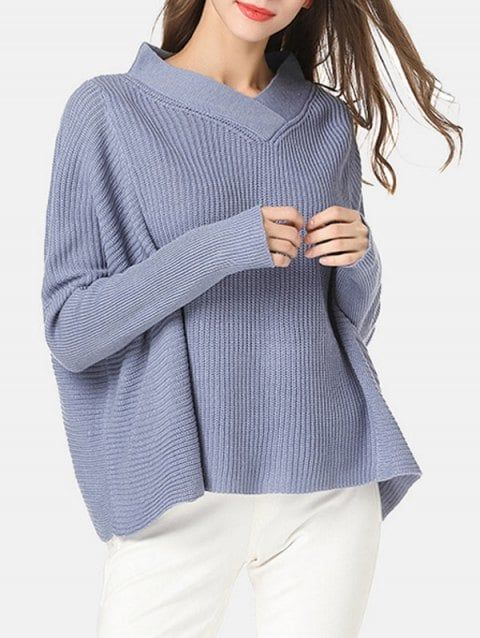 Long Sleeve Shawl Collar Sweater | B.women's fashion | outfit .