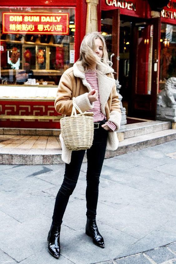 2017 Winter Trend: Outfit Ideas to Wear Shearling Jacket .