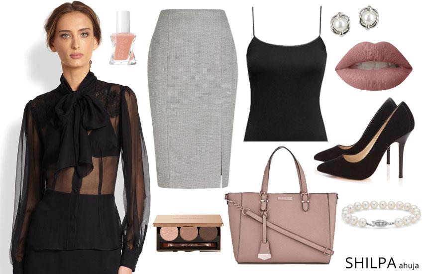How to Wear Sheer Tops in 5 Foolproof Ways   ShilpaAhuja.c