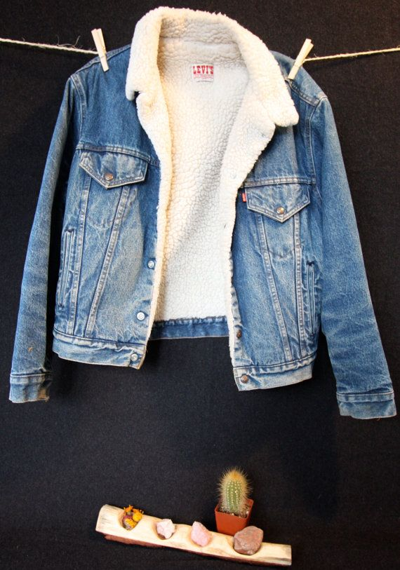 Levi's Vintage Sherpa Lined Jean Jacket by OursVintage on Etsy .