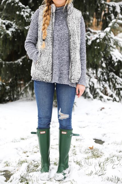 15 Sherpa Vest Outfits For Stylish Women - Styleohol