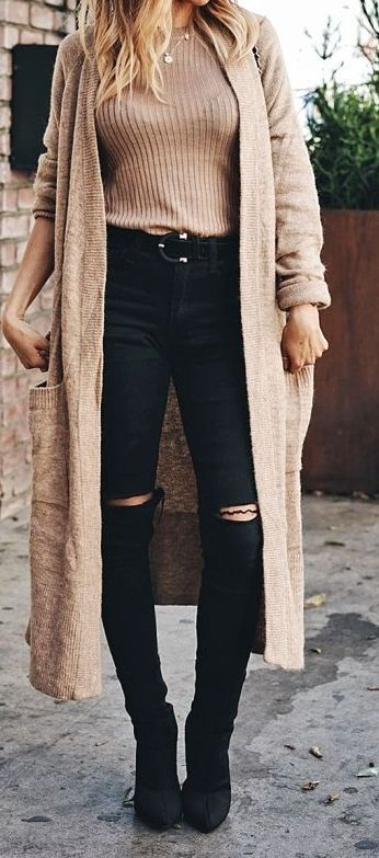 21 Cheap Long Cardigan Fashion Outfit Ideas for Fall | Cardigan .
